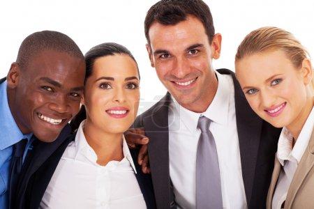 Photo pour Portrait de jeunes entrepreneurs équipe closeup - image libre de droit