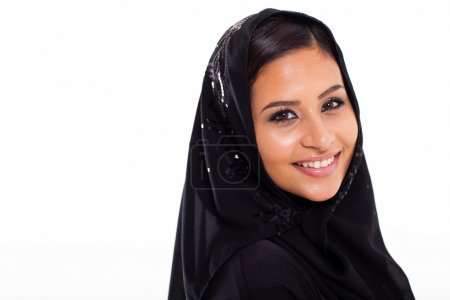 Pretty muslim woman head shot