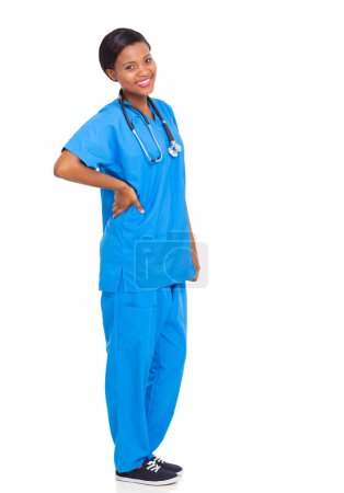 african female nurse isolated