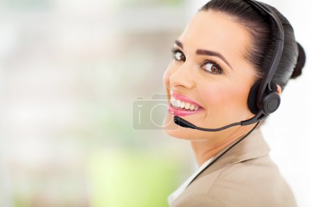 call center telemarketer with headset
