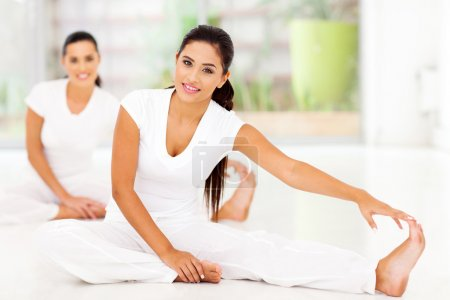 women doing stretching exercise