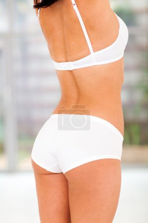 back of fit woman body