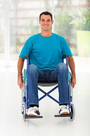 optimistic handicapped man