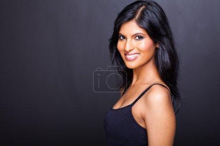 smiling young glamour hispanic woman