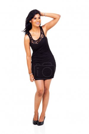happy young indian model posing