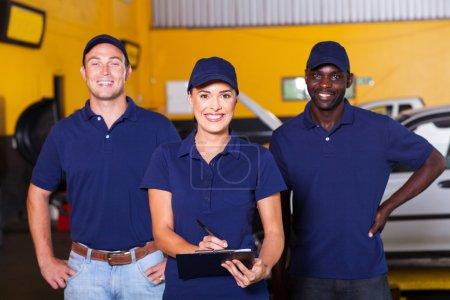 auto repair shop workers