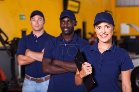 Photo for Group of garage workers portrait - Royalty Free Image