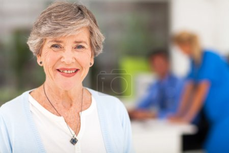 Senior woman in doctor's office