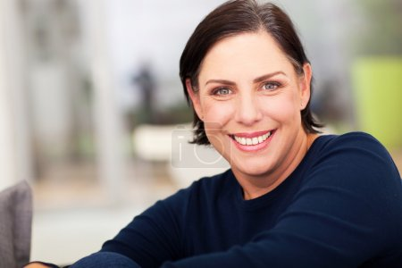Photo for Close up portrait of beautiful mature woman - Royalty Free Image