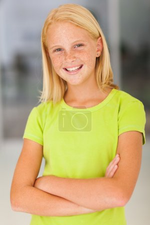 confident preteen girl portrait