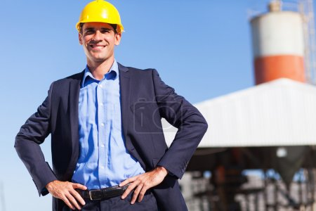 Photo for Handsome industrial manager portrait outdoors - Royalty Free Image