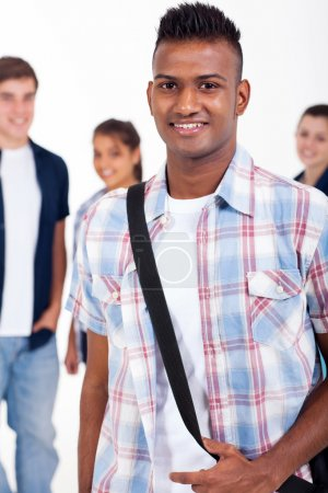 Handsome indian high school student