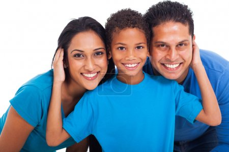 Photo for Close up portrait of happy indian family - Royalty Free Image