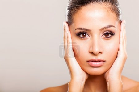 Young woman beauty face