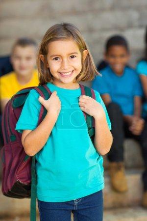 Cute elementary schoolgirl