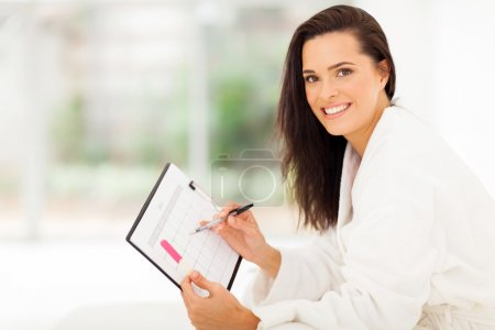 elegant young woman planning pregnancy