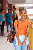 étudiant afro-américain femelle