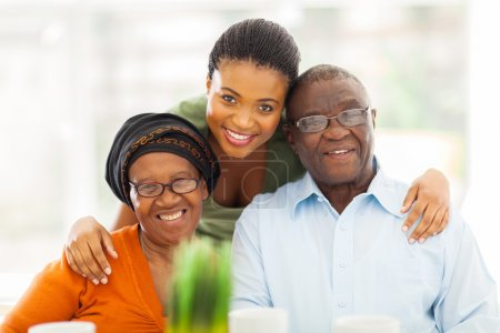 Photo for Portrait of happy african family at home - Royalty Free Image