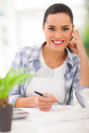 young woman planning retirement investment