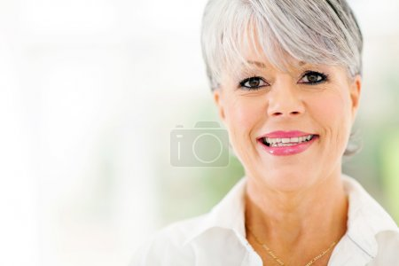 middle aged woman close up