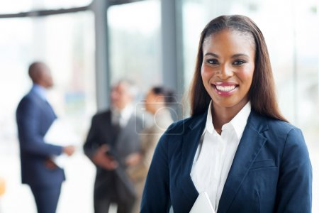 Photo for Close up portrait of happy african american businesswoman - Royalty Free Image