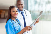 Young african medical doctors