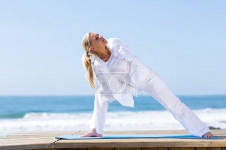 Fitness mature woman yoga
