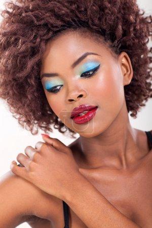 portrait de beauté de femme africaine