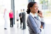 Worker talking on phone