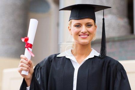 Female graduate at graduation