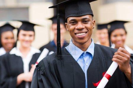 Good looking african graduate