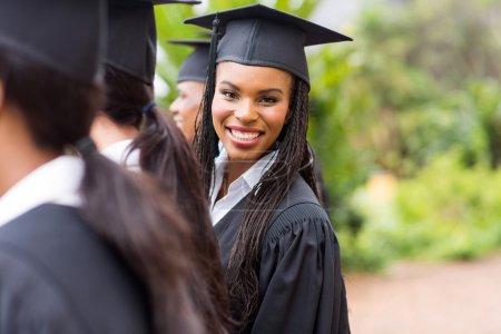 African graduate looking back