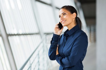 Business executive making a phone call