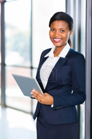 young african american office worker