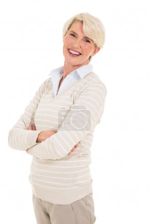 cheerful middle aged woman