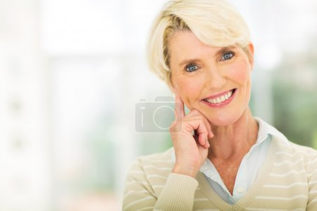 Photo for Beautiful aged lady looking at the camera - Royalty Free Image