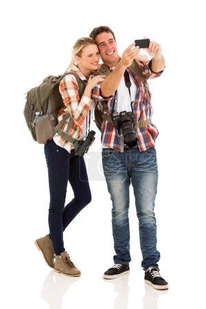 Couple taking self portrait