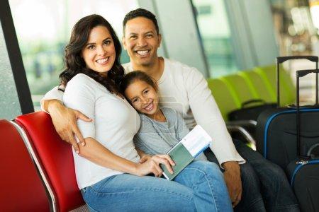 Family waiting for flight