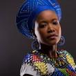 Portrait of gorgeous young african zulu woman look...