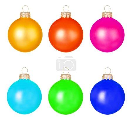 Multicoloured Christmas toys balls