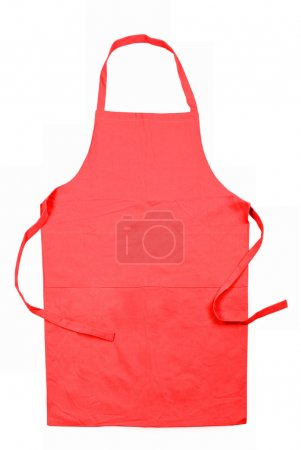 Photo for Red female apron isolated on white background - Royalty Free Image