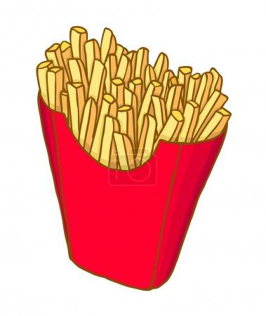 Illustration pour Frites peintes, illustration vectorielle - image libre de droit