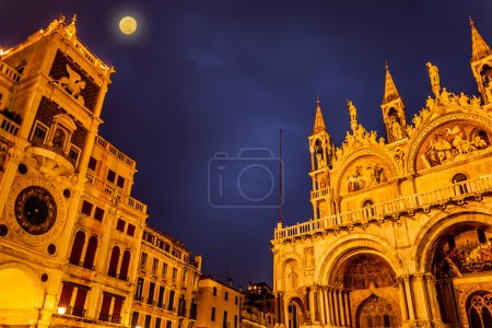 Full Moon In San Marco Square, Venice Italy