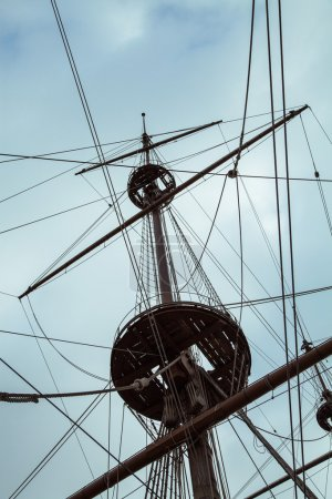 Detail of Neptune Galleon, used by R. Polansky for the movie Pir