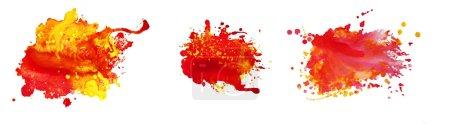 Photo pour Ensemble de fonds peints à la main abstraits aquarelle - image libre de droit