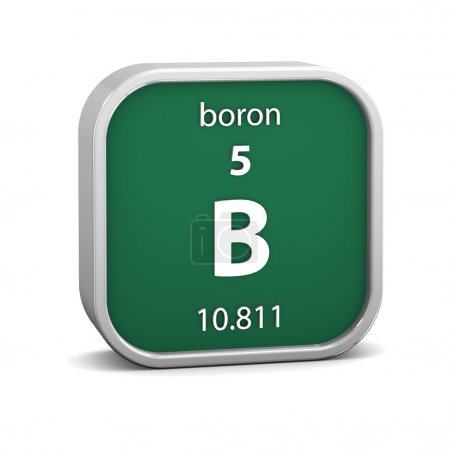 Boron material sign