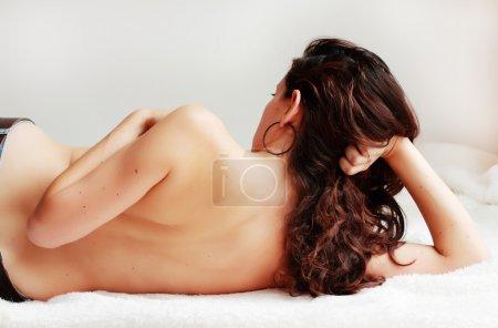 Beautiful woman, back view