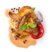 Kycklingvingar med grönsaker