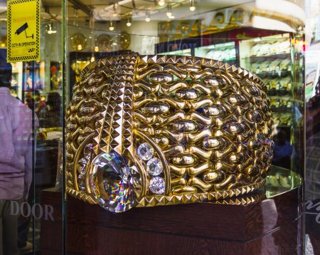 The biggest gold ring in Deira Gold Souq weighs 63.85kg. on Nove