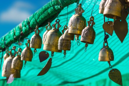Photo for Tradition asian bell in Big Buddha temple complex, Thailand, Phuket - Royalty Free Image